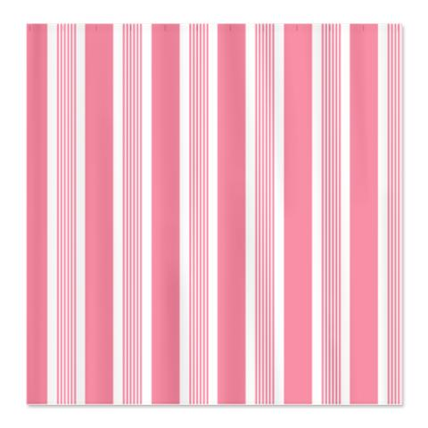 Bold Pink Stripes Shower Curtain