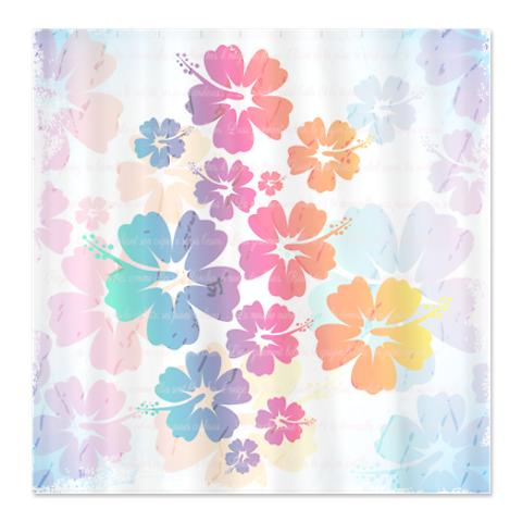French Rainbow Floral Poetry Shower Curtain