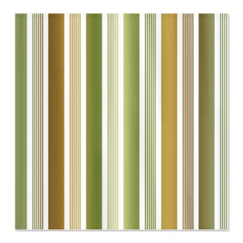 Green and Brown Gradient Stripes Shower Curtain