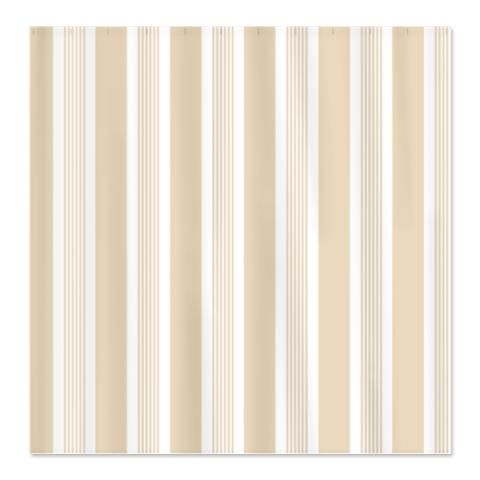 Warm and Inviting Beige Stripes Shower Curtain