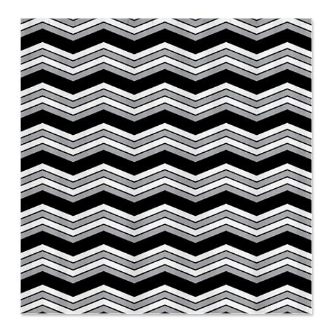 Zigzag Black, Grey and White Shower Curtain
