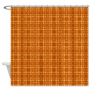 Amber And Beige Abstract Art 52 Shower Curtain