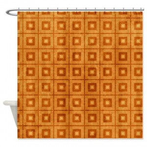 Amber And Beige Abstract Art 54 Shower Curtain