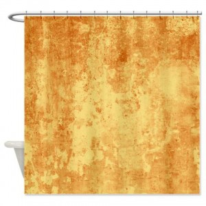 Amber And Beige Abstract Art 57 Shower Curtain