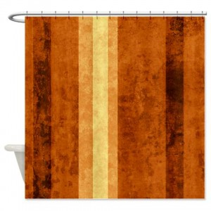 Amber And Beige Abstract Art 58 Shower Curtain