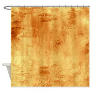 Amber And Beige Abstract Art 59 Shower Curtain