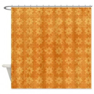 Amber And Beige Abstract Art 60 Shower Curtain