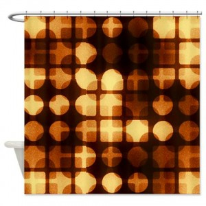 Amber And Brown Abstract Art 30 Shower Curtain