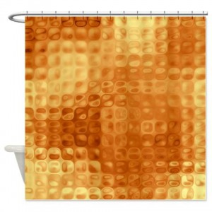Amber And Brown Abstract Art 31 Shower Curtain