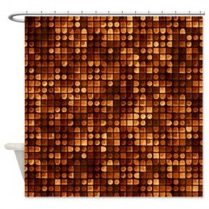 Amber And Brown Abstract Art 32 Shower Curtain