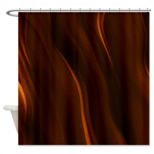 Amber And Brown Abstract Art 33 Shower Curtain