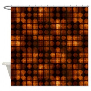 Amber And Brown Abstract Art 37 Shower Curtain