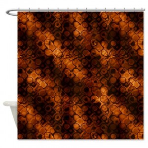 Amber And Brown Abstract Art 38 Shower Curtain