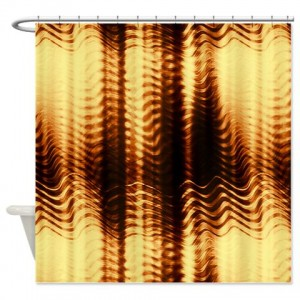 Amber And Brown Abstract Art 39 Shower Curtain