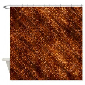 Amber And Brown Abstract Art 40 Shower Curtain