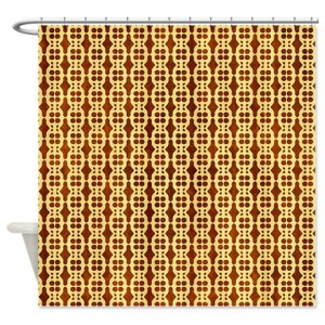 Amber And Brown Abstract Art 42 Shower Curtain