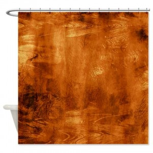 Amber And Brown Abstract Art 45 Shower Curtain
