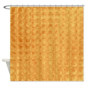 Amber And Brown Abstract Art 48 Shower Curtain
