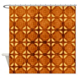 Amber And Brown Abstract Art 49 Shower Curtain