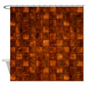 Amber And Brown Abstract Art 51 Shower Curtain