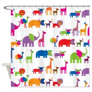 Animals On Parade Shower Curtain