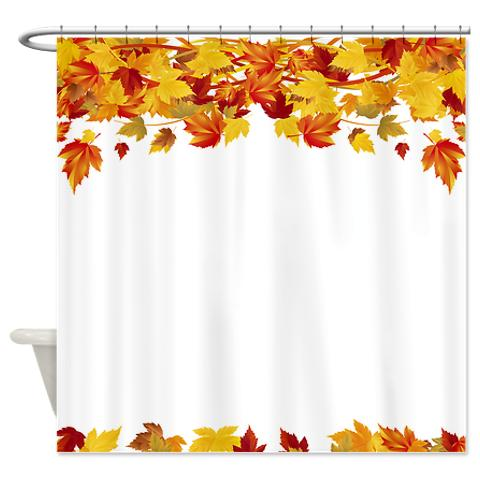 Charmant Autumn Leaves 6 Shower Curtain