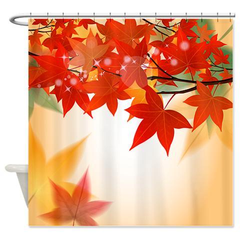 Autumn Leaves 8 Shower Curtain