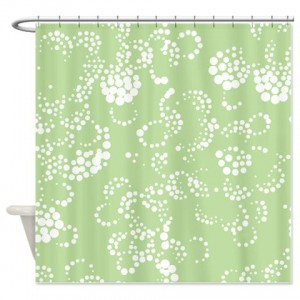 Batik 2b Green Shower Curtain