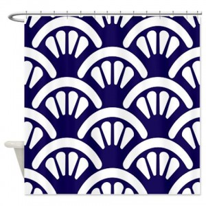 Batik 2d Blue Shower Curtain