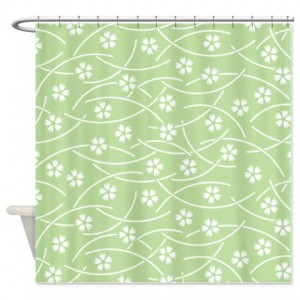 Batik 2f Green Shower Curtain