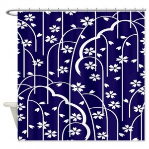 Batik 2g Blue Shower Curtain
