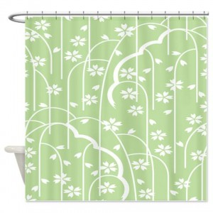 Batik 2g Green Shower Curtain
