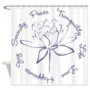 Lotus-Blue Shower Curtain