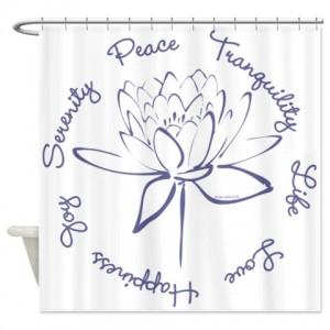 Lotus-Blue Shower Curtain