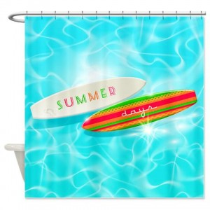 Clear Blue Summer Days 4 Shower Curtain