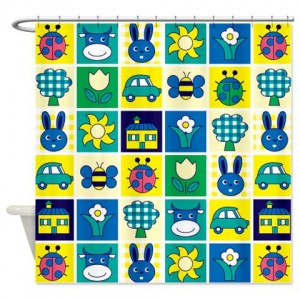 Cute Baby Blocks Pattern 1 Shower Curtain