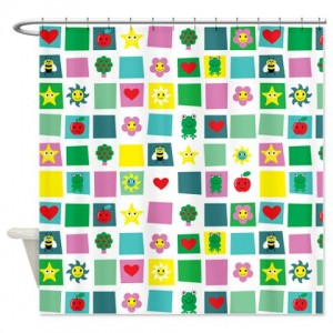 Cute Blocks Pattern 2 Shower Curtain