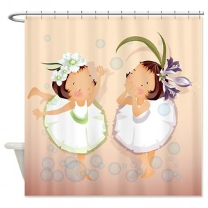 Cute Little Girls 1 Shower Curtain