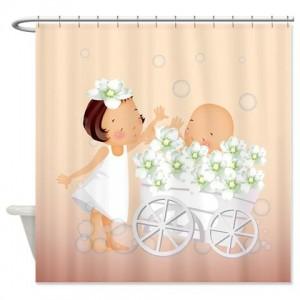 Cute Little Girls 2 Shower Curtain