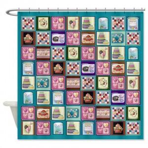Cute Quilt Design Shower Curtain