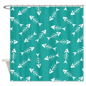 Fish Bone Pattern Shower Curtain