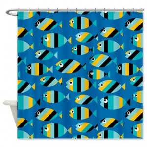 Fish Pattern 2 Shower Curtain