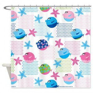 Fish Pattern 9 Shower Curtain