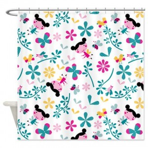 Funny Girl Bugs Shower Curtain