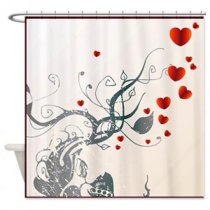 Heart Greetings 1 Shower Curtain