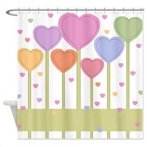 Heart Greetings 2 Shower Curtain