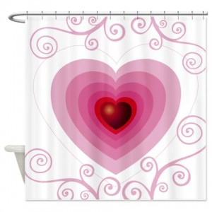 Heart Greetings 3 Shower Curtain