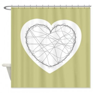 Heart Greetings 4 Shower Curtain