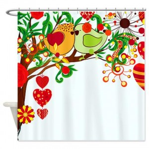 Love Birds 2 Shower Curtain