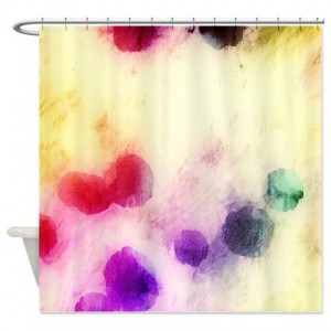 magenta abstract art 18 Shower Curtain